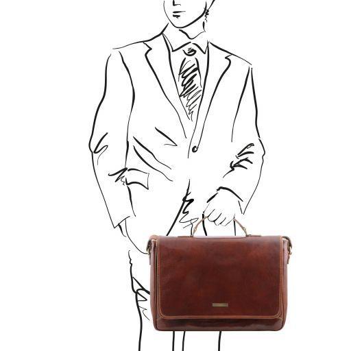 Padova Exklusive Leder - Notebooktasche Braun TL140891