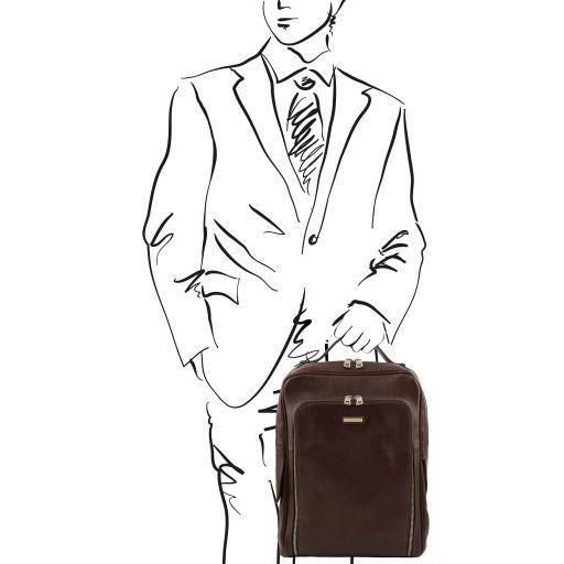 Bangkok Zaino porta notebook in pelle Testa di Moro TL141793