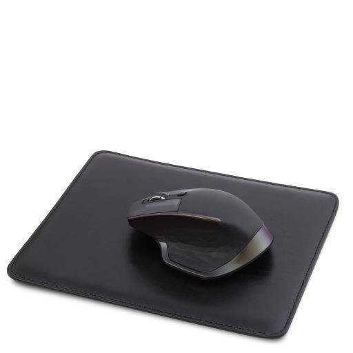 Tappetino per mouse in pelle Nero TL141891