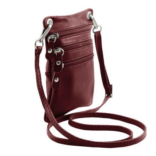 TL Bag Sac bandoulière en cuir souple Bordeaux TL141368