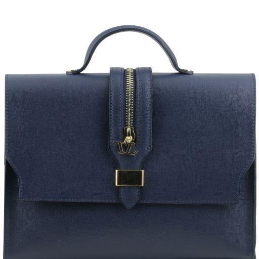 TL Bag Borsa a mano in pelle Saffiano e tracolla staccabile Blu scuro TL141318