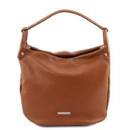 TL Bag Borsa hobo in pelle morbida Cognac TL141855