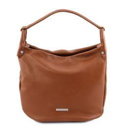 TL Bag Beuteltasche aus weichem Leder Cognac TL141855
