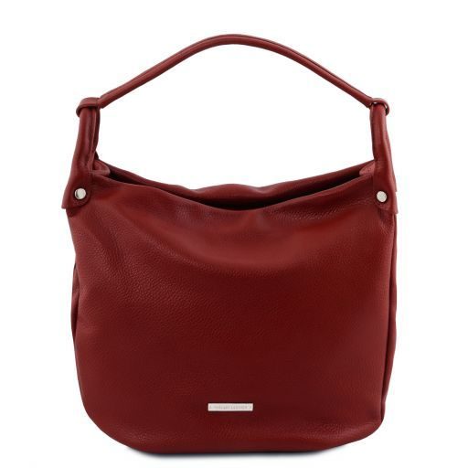 TL Bag Soft leather hobo bag Red TL141855