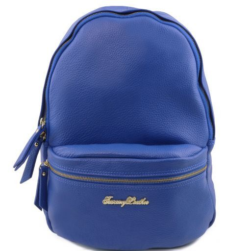 TL Bag Nuovo Zaino donna in pelle morbida Blu TL141320