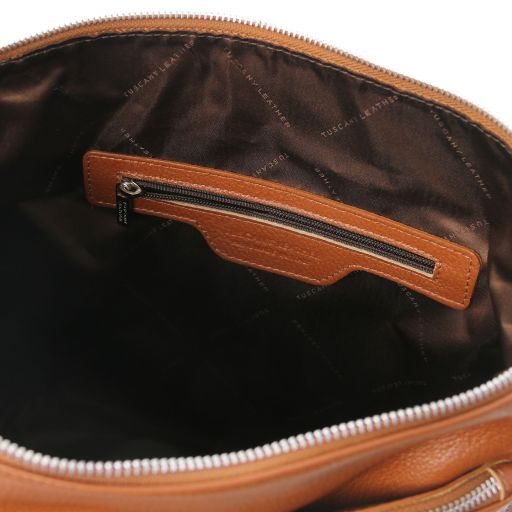 TL Bag Soft leather shoulder bag Cognac TL141874