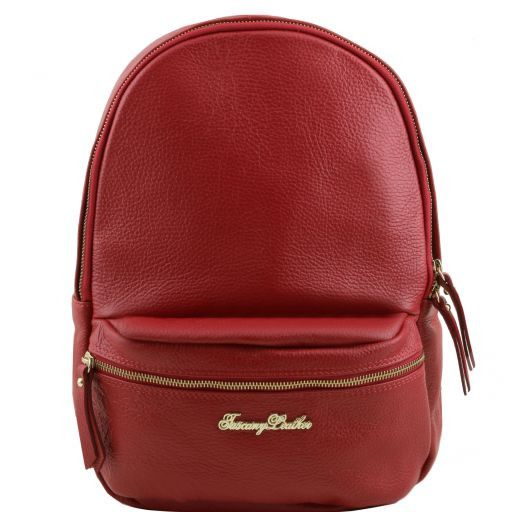 TL Bag Nuovo Zaino donna in pelle morbida Rosso TL141320