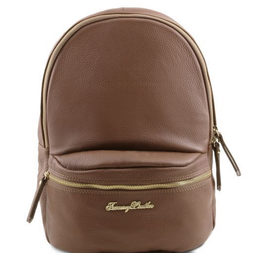TL Bag Soft leather backpack for women Dark Taupe TL141320