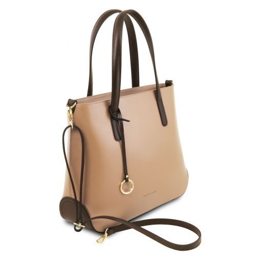 Penelope Leather tote Champagne TL141791