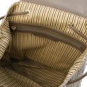 TL KeyLuck Woven printed leather backpack Dark Taupe TL141886