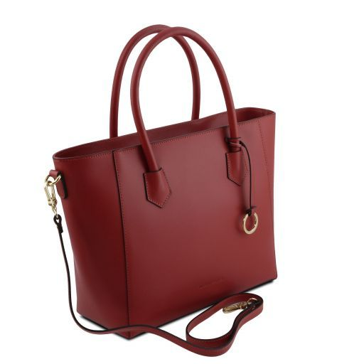 Aria Sac cabas en cuir Rouge TL141823