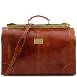 Madrid Gladstone Leather Bag - Large size Honey TL1022