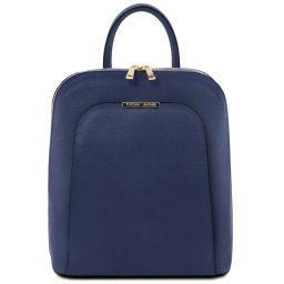 TL Bag Mochila para mujer en piel Saffiano Azul oscuro TL141631