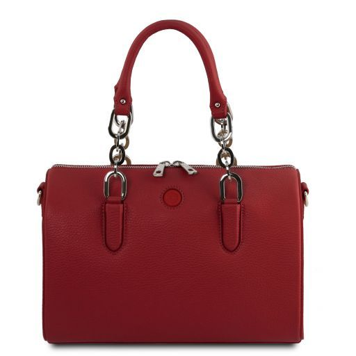 Narciso Leather duffle bag Красный TL141875
