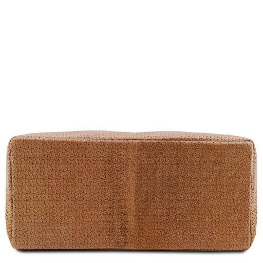 TL KeyLuck TL SMART Tasche aus geprägtem Leder - Gross Cinnamon TL141568
