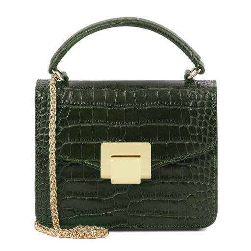 TL Bag Mini sac en cuir effet croco Vert Forêt TL141890