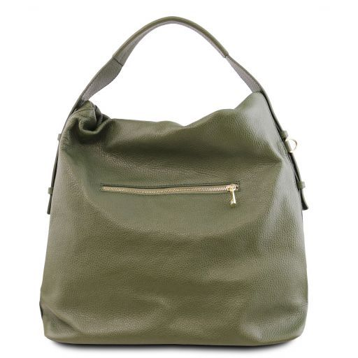 TL Bag Soft leather hobo bag Olive Green TL141884