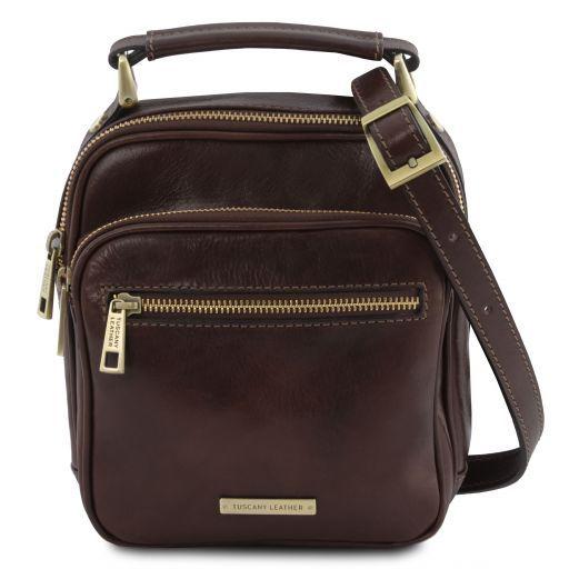 Paul Leather Crossbody Bag Dark Brown TL141916