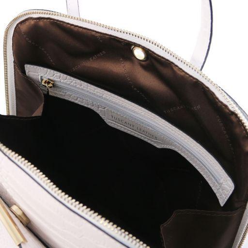 TL Bag Mochila para mujer en piel efecto coco Blanco TL141918