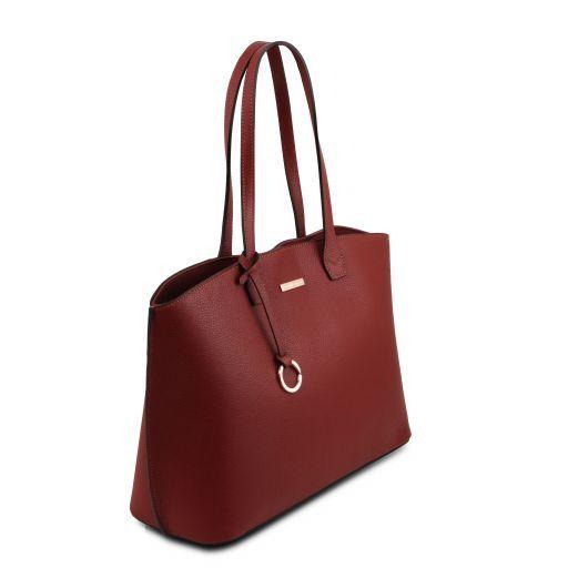 TL Bag Bolso tote en piel morbida Rojo TL141828
