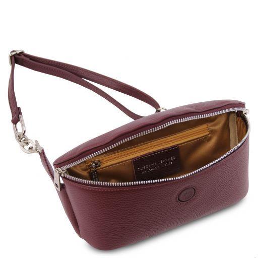 Erica Soft leather fanny pack Bordeaux TL141877