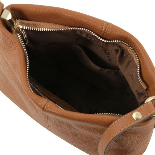 TL Bag Borsa a tracolla in pelle morbida Cognac TL141720