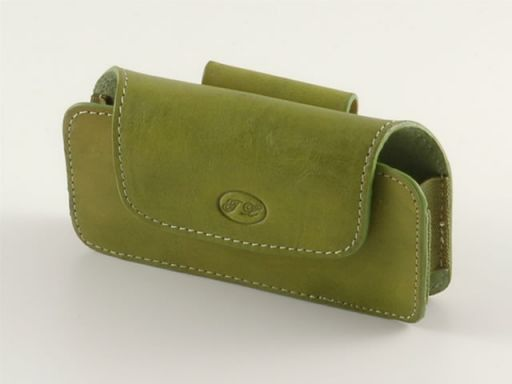 Leather cellphone holder Green TL140247