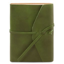 Leather travel diary Green TL141925