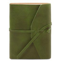 Diario de viaje en piel Verde TL141925