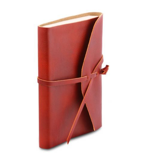 Leather travel diary Red TL141925