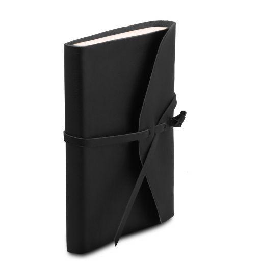 Diario de viaje en piel Negro TL141925