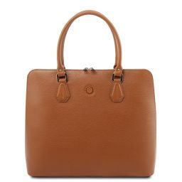 Magnolia Borsa business in pelle per donna Cognac TL141809