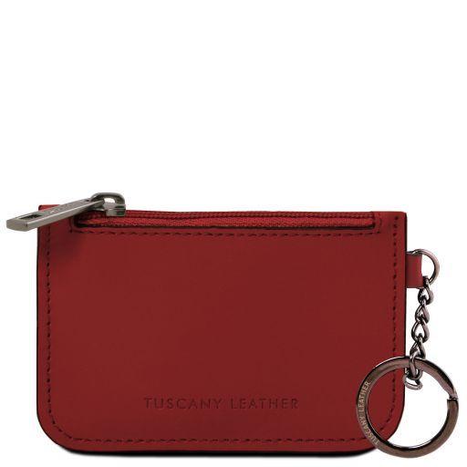 Porte clé en cuir Rouge TL141671