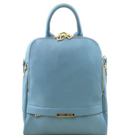 TL Bag Soft Leather Backpack for Women Light Blue TL141376 97402d7a31c9c