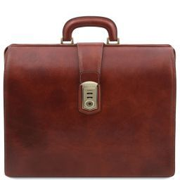 Canova Leather Doctor bag briefcase 3 compartments Brown TL141826