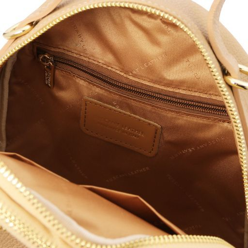 TL Bag Damenrucksack aus Leder Champagne TL141743