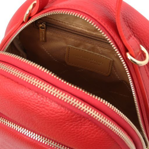 TL Bag Leather backpack for women Lipstick Red TL141743