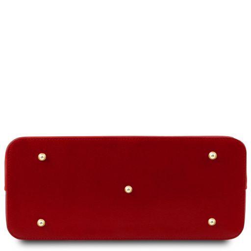 TL KeyLuck Сумка-тоут из кожи Саффьяно Красный TL141261