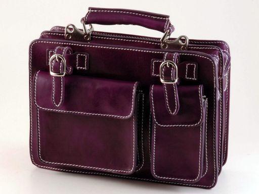 Tania Damenhandtasche aus Leder Purple TL6021