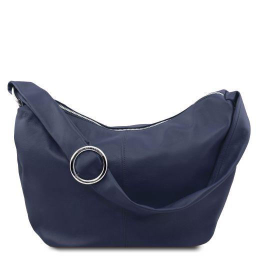 Yvette Soft leather hobo bag Dark Blue TL140900