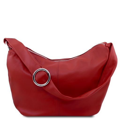 Yvette Sac hobo en cuir souple Rouge TL140900