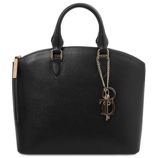 TL KeyLuck Shopping Tasche aus Saffiano Leder Schwarz TL141261