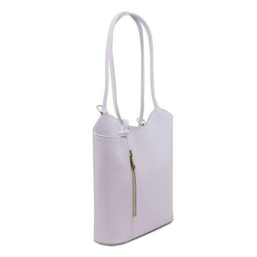 Patty Borsa donna convertibile a zaino in pelle Saffiano Bianco TL141455