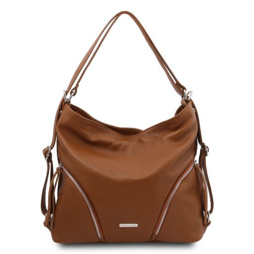 TL Bag Soft leather convertible shoulder bag Коньяк TL141938