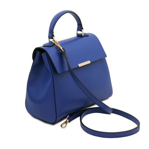 TL Bag Bauletto piccolo in pelle Saffiano Blu TL141628