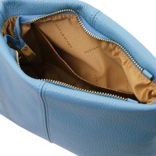 TL Bag Bolso con badolera en piel suave Azure TL141720