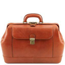 Leonardo Exclusive leather doctor bag Honey TL141299