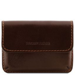 Exclusive leather business cards holder Dark Brown TL141378