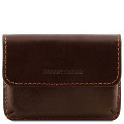 Эксклюзивный кожаный футляр для визиток Темно-коричневый TL141378