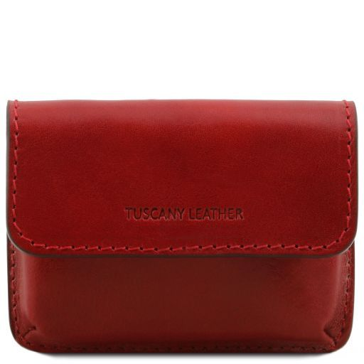Exclusive leather business cards holder Red TL141378